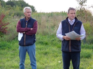 Richard Pemberton (owner Trumpington) & David Knott ( Trumpington Estate Manager) Castleacre GWCT East Anglian Grey Partridge Award 2013