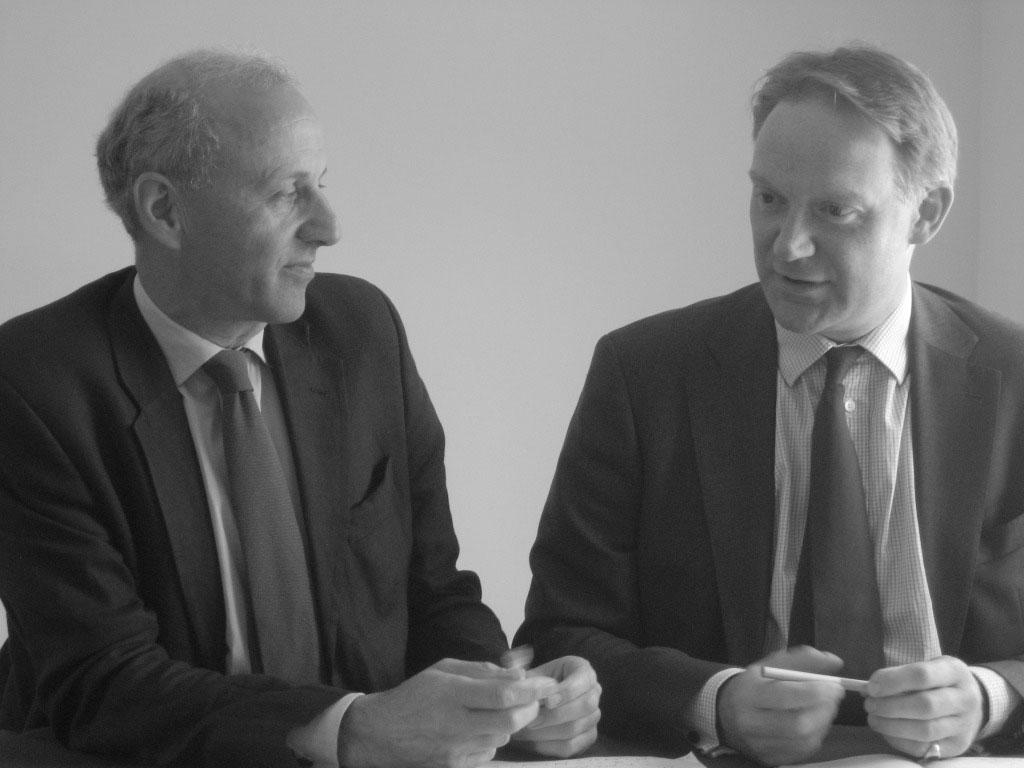 Hugo Johnsen and Guy Everington, founding Directors of Castleacre Insurance Brokers