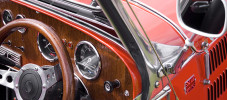 classic car insurance showing the dashboard of a classic english sports car