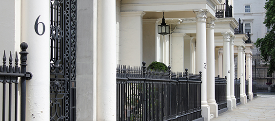 A London terrace with let property owners benefiting from let property insurance